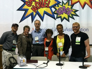 ALA 2012 Eisner Prize Event (L-R John Shableski, Jennifer Ruth(Brodart Co.) Carl Gropper, Nancy Gropper, Viola Dyas, Jack Baur, Not pictured Dylan Flesch).jpg